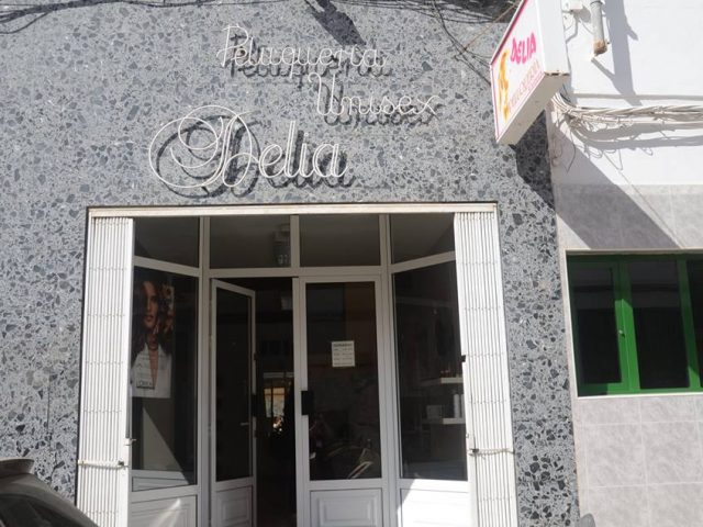 Peluquería unisex, Delia